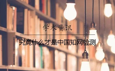 究竟什么才是中国知网检测?